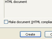 Создать xHTML-документ в Dreamweaver MX